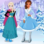 Elsa and Moanas Winter Vacation